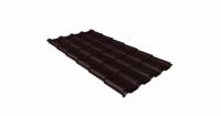 Металлочерепица камея Grand Line 0,5 Quarzit lite RAL 8017 шоколад