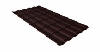 Металлочерепица кредо 0,45 Drap RAL 8017 шоколад
