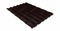 Металлочерепица классик Grand Line 0,5 Quarzit RAL 8017 шоколад Metallic