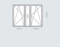 Окно двухстворчатое Rehau Brillant