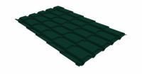 Металлочерепица квадро Grand Line 0,5 Velur20 RAL 6005 зеленый мох