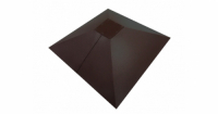 Колпак на столб под фонарь 390х390мм 0,5 GreenCoat Pural с пленкой RR 23 темно-серый (RAL 7024 мокрый асфальт)