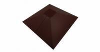 Колпак на столб под фонарь 390х390мм 0,5 Atlas с пленкой RAL 8017 шоколад