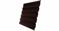 Профнастил С20R Grand Line 0,5 GreenCoat Pural Matt RR 887 шоколадно-коричневый (RAL 8017 шоколад)