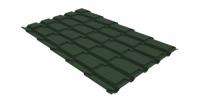 Металлочерепица квадро Grand Line 0,5 Velur20 RAL 6020 хромовая зелень