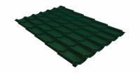Металлочерепица классик Grand Line 0,5 Quarzit lite RAL 6005 зеленый мох