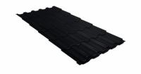 Металлочерепица квинта плюс 0,45 Drap RAL 9005 черный