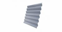 Профнастил С21R 0,45 PE RAL 9006 бело-алюминиевый
