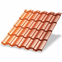 Металлочерепица МП Монтекристо-SL (AGNETA-20-Copper\Copper-0.5)