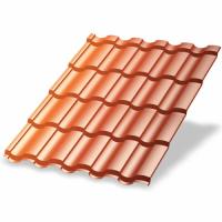 Металлочерепица МП Монтекристо-X (AGNETA-20-Copper\Copper-0.5)