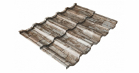 Металлочерепица модульная квинта Uno Grand Line c 3D резом 0,45 Print Twincolor Fine Stone