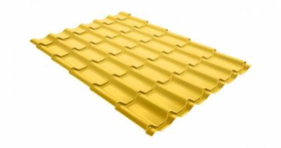 Металлочерепица классик 0,45 PE RAL 1018 цинково-желтый