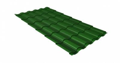 Металлочерепица камея 0,5 Satin RAL 6002 лиственно-зеленый