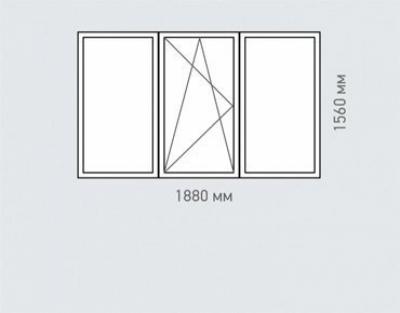 Окно трехстворчатое Rehau Grazio Серии   -57