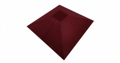 Колпак на столб под фонарь 390х390мм 0,5 Quarzit с пленкой RAL 3005