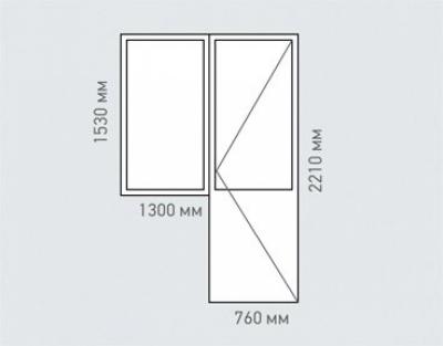 Балконный блок Rehau Brillant серия   -18