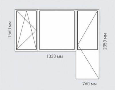 Балконный блок Rehau Grazio Серии ||-57