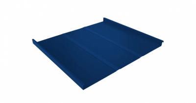 Фальц двойной стоячий Профи 0,45 PE с пленкой на замках RAL 5005 сигнальный синий