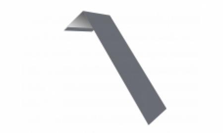 Планка ветровая(лобовая) LINKOR 150 мм 0,45 мм L=2 м RAL 9006