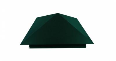 Колпак на столб 390х390мм 0,5 Atlas с пленкой RAL 6005 зеленый мох