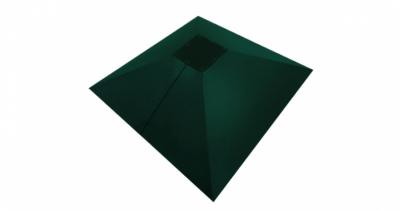 Колпак на столб под фонарь 390х390мм 0,5 Atlas с пленкой RAL 6005 зеленый мох