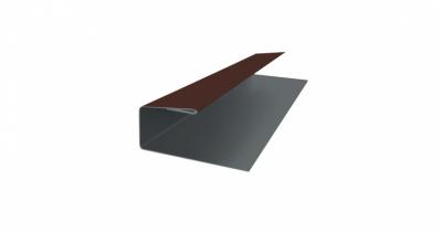 J-Профиль 18мм 0,5 Satin с пленкой RAL 8017 шоколад