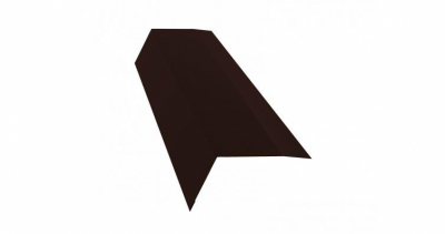 Планка карнизная 100х65 0,5 Satin с пленкой RAL 8017 шоколад