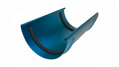 Соединитель желоба LINKOR 120мм (алюминий толщина 2 мм) RAL 5005