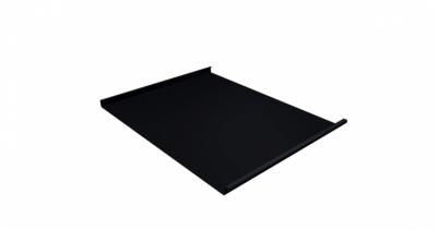 Фальц двойной стоячий Grand Line 0,5 Quarzit lite с пленкой на замках RAL 9005 черный