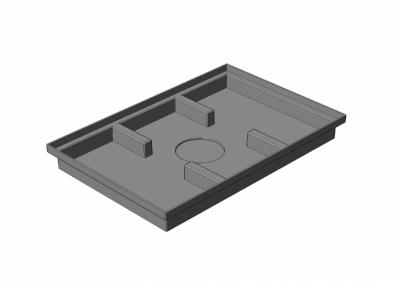 Поддон придверный пластиковый Gidrolica Step Pro, A15