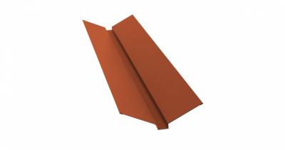 Планка ендовы верхней 115х30х115 0,5 Satin с пленкой RAL 8004 терракота