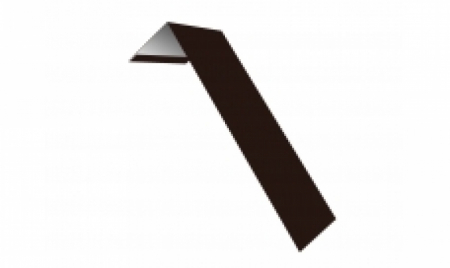 Планка ветровая(лобовая) LINKOR 150 мм  0,45 мм L=2 м RAL 8017