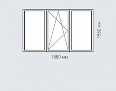 Окно трехстворчатое REHAU Estet для дома серии   -49