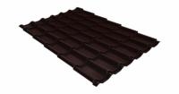 Металлочерепица классик Grand Line 0,5 Atlas RAL 8017 шоколад