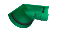 Угол желоба LINKOR 90⁰ 120мм (алюминий толщина 1,2 мм) RAL 6020
