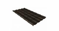 Металлочерепица камея Grand Line 0,5 Velur20 RR 32 темно-коричневый