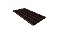 Металлочерепица камея 0,5 Satin RAL 8017 шоколад