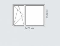 Окно двухстворчатое Rehau Delight для домов серии копэ