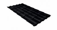 Металлочерепица кредо 0,45 Drap RAL 9005 черный