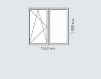 Окно двухстворчатое REHAU Estet для дома серии I-491-A