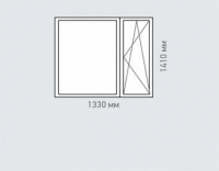 Окно двухстворчатое REHAU Estet для дома серии I-515-9М