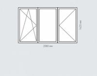 Окно двухстворчатое Rehau Brillant для домов серии п-30
