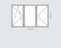 Окно трехстворчатое Rehau Delighttдля домов серии п-44