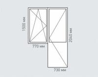 Балконный блок Rehau Brillant для домов серии и-68