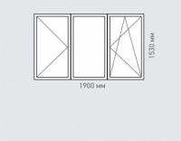 Окно трехстворчатое Rehau Brillant серия ||-18
