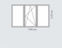 Окно трехстворчатое Rehau Brillant для домов серии п-46