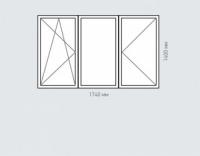 Окно трехстворчатое Rehau Delighttдля домов серии п-43