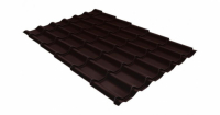 Металлочерепица модерн 0,4 PE с пленкой RAL 8017 шоколад