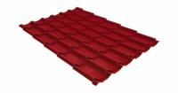 Металлочерепица классик 0,45 PE RAL 3003 рубиново-красный