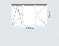 Окно трехстворчатое REHAU Estet для дома серии Тишинская